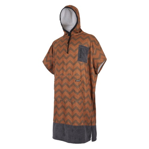 Mystic Poncho Allover Seal Brown/Gold