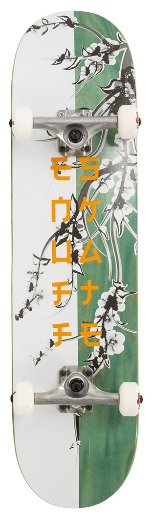 Enuff Cherry Blossom rula White/Teal 8 x 32
